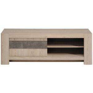 last meubles meuble tv marron porte coulissante solen. Black Bedroom Furniture Sets. Home Design Ideas