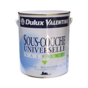 Elegant Dulux Valentine   Peinture Sous Couche Universelle Acrylique   Valfond    Blanc   2.5 L Bonnes Idees