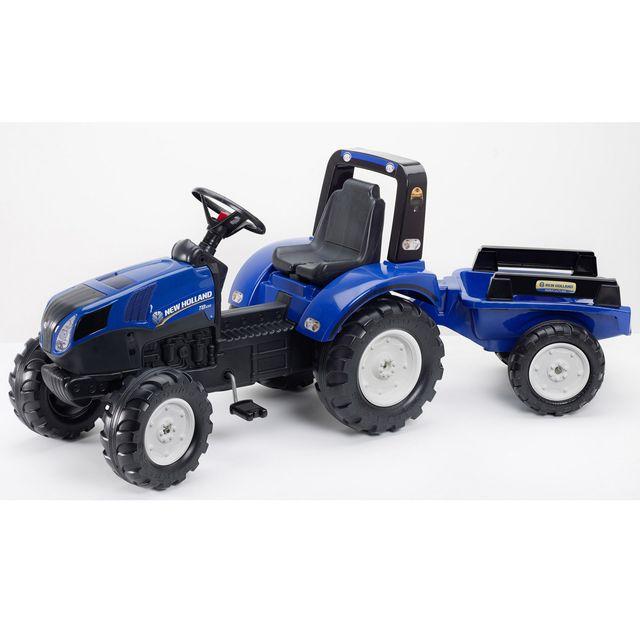Falk tracteur enfant new holland t8 remorque pas cher achat vente camions et tracteurs - Tracteur remorque enfant ...