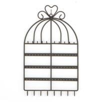 Atmosphera - Porte-bijoux mural Cage - Noir