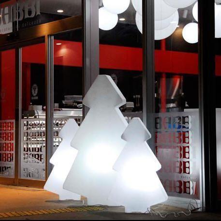Slide - Lightree - Sapin lumineux d'extérieur Blanc H150cm - Luminaire d'extérieur designé par Loetizia Censi