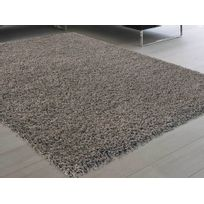 les essentiels by dlm tapis shaggy poil long 100 polypropylne douceur taupe - Tapis Taupe