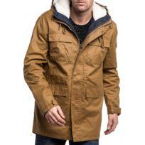 Bellfield - Parka homme 3 en 1 marron grandes poches