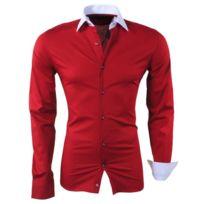 8de29548ecf91 Chemise homme rouge - catalogue 2019 - [RueDuCommerce - Carrefour]