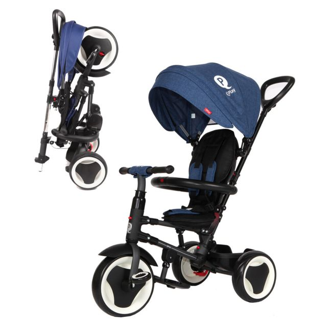 Qplay Tricycle Evolutif Rito - Pliage compacte - Bleu
