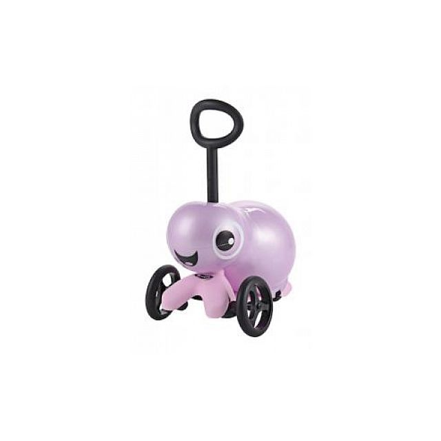 Micro Trottinette Microlino Rose avec siege gonflable