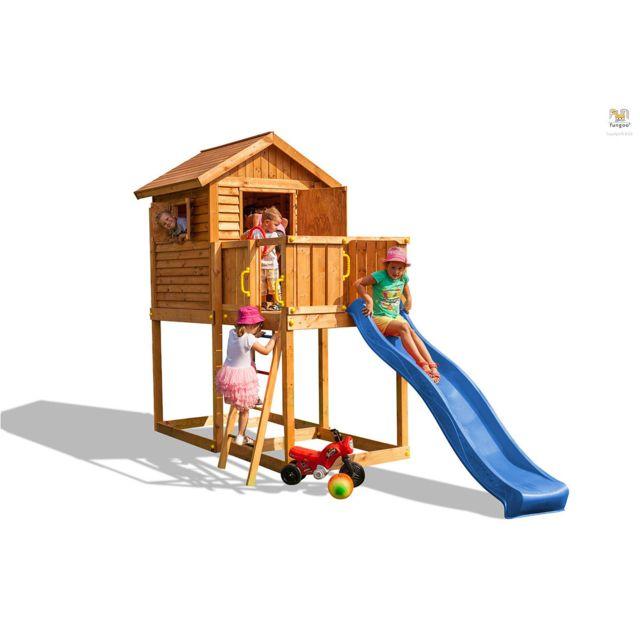 b7dc702292ae8 FUNGOO - Aire de jeux My House bleu - pas cher Achat   Vente Aire de jeux -  RueDuCommerce