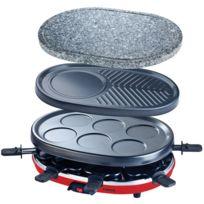 HKOENIG - Appareil à raclette 4 en 1 : Raclette, Crêpiere, Grill, Pierre à Griller - RP412 H.KOENIG