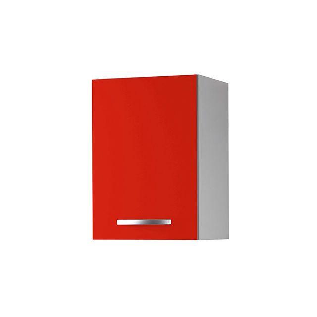 Meuble haut L40xH58xP36cm - rouge