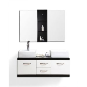 miliboo meubles de salle de bain double vasque meuble sous vasque et miroirs dohan blanc et. Black Bedroom Furniture Sets. Home Design Ideas
