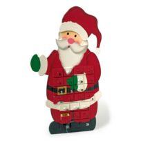 Small Foot Company - Calendrier de l'Avent en bois - En attendant Noël - Modèle Père-Noël