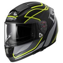 Ls2 - casque moto intégral en Fibre Ff397 Vantage noir jaune fluo mat 3XL