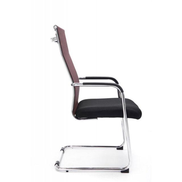 Decoshop26 Chaise pour visiteur fauteuil de bureau avec