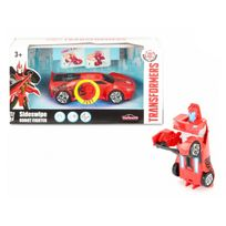 Majorette - Voiture transformable Transformers Robot Fighter 15 cm : Sideswipe