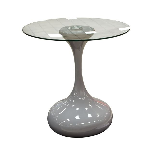 TOPDECO Table basse laquée Grise design