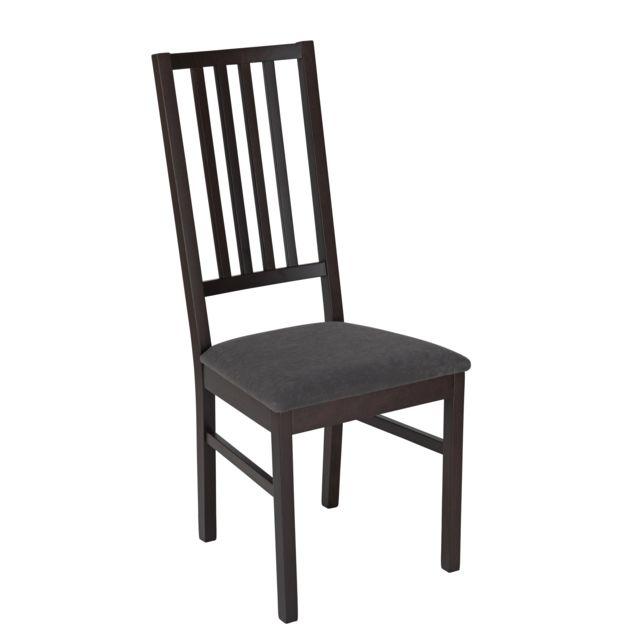 RUE DU COMMERCE - Chaise Ilary - Noir/gris