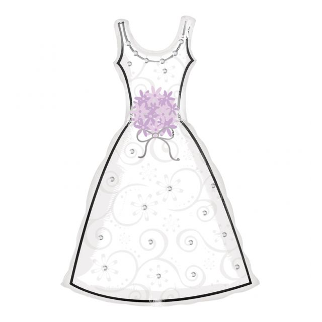 Amscan - Ballon Mylar Robe de Mariée