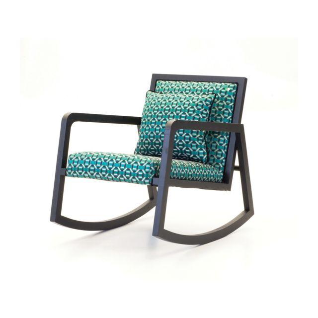 Signature Rocking chair Géo vert