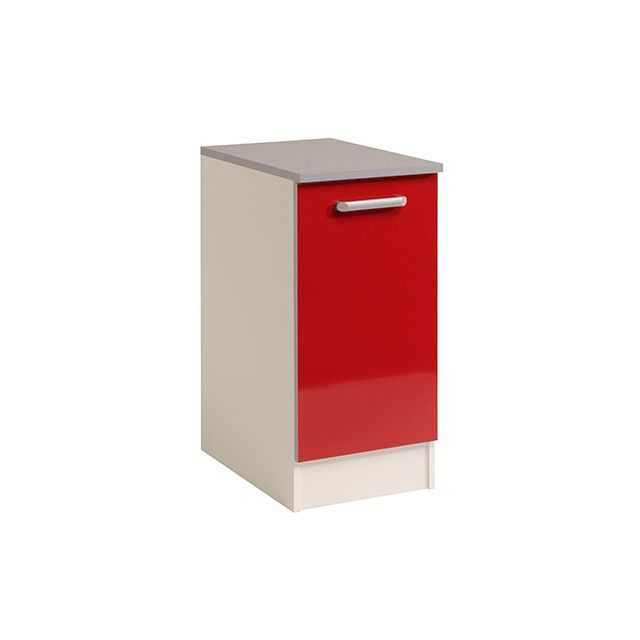 Meuble bas 1 porte L40xH86xP60cm - rouge brillant