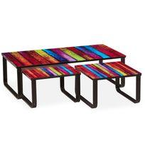 Menzzo - Table basse gigogne Lilou Rainbow