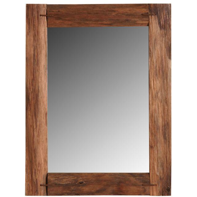 AUBRY GASPARD Miroir en chêne teinté
