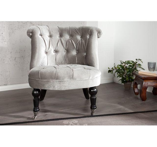 CHLOE DESIGN Fauteuil design Stelly - gris