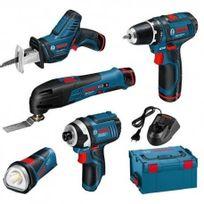 Bosch - Kit Professionnel 5 outils Pro sans fil 10,8V 2,0Ah en coffret L-boxx