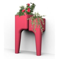 Hurbz - Jardinière multi-pots rouge Kiga S en polypropylène