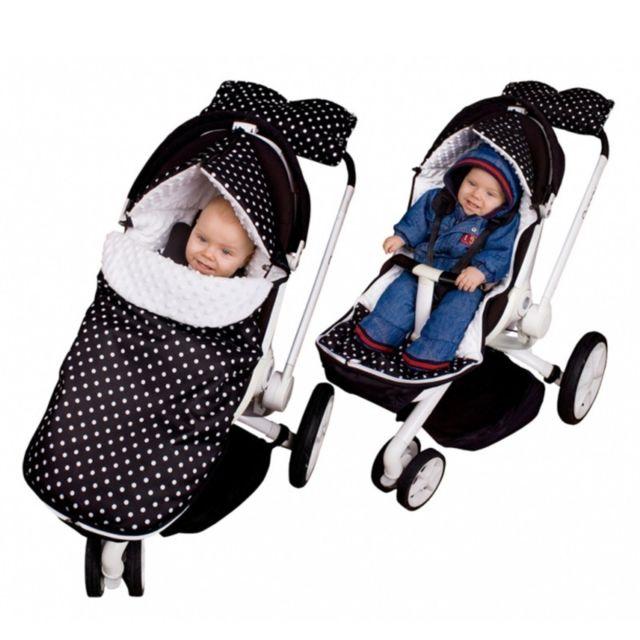 Sevira Kids - Chancelière universelle et imperméable - pour poussette ou siège auto - Stars 2.0