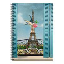 Les Cakes De Bertrand - Cahier Siprales A4 - 148 pages Lignées Tour Eiffel Oiseau