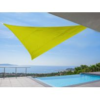 Idea Nature - Voile d'ombrage triangulaire 5m en polyesther 180 gr/m² Ideprice