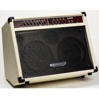 Keytone - Ampli Guitare électro-acoustique blanc 2 Canaux Prise micro, Reverb et Chorus