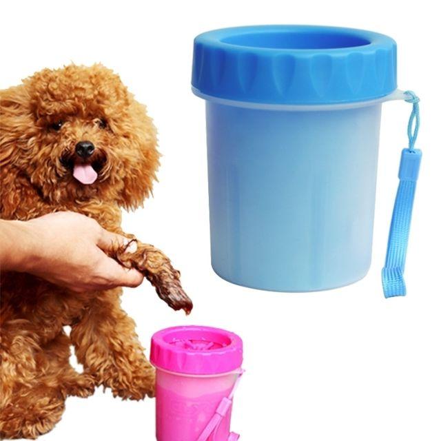 Wewoo Pour animaux de compagnie, coupe bleu de nettoyage Produits nettoyants antiseptiques pieds en silicone, taille: S