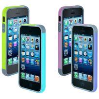 Blueway - Pack de deux bumpers de protection pour iPhone 5c