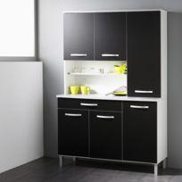 """Buffet de cuisine """"Smarty"""" 120cm Noir"""