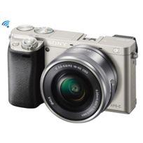 SONY - Appareil photo a6000 de type E avec capteur APS-C Argent