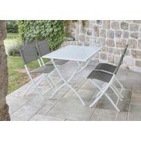 Table jardin blanche - catalogue 2019 - [RueDuCommerce - Carrefour]