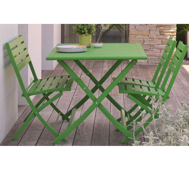 Dcb Garden Table pliante en aluminium vert prairie