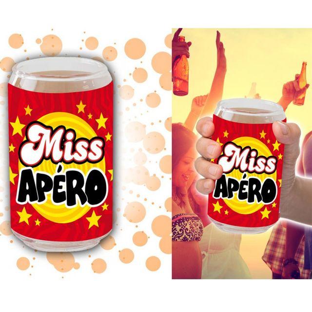 Kas Design Verre Canette Miss Apéro