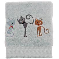 Sensei - La Maison Du Coton - Serviette de toilette 50x100cm Brodée Cats 550gr/m² Coton