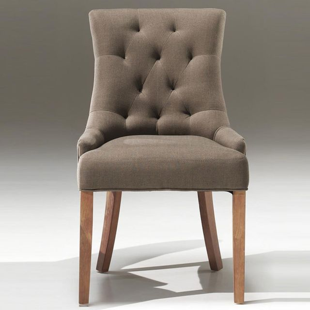 Nouvomeuble Chaise taupe design Angelina