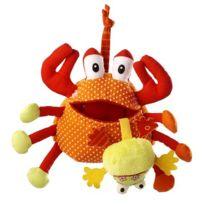 Lilliputiens - Peluche Hochet Oscar le crabe gourmand