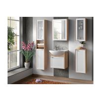 Chloe Design - Ensemble salle de bain Naba bois clair
