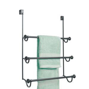 Interdesign porte serviette suspendre york noir 3 niveaux pas cher achat vente porte - Porte serviette a suspendre ...