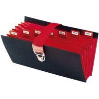 Extendos - Classeur caisse 8 compartiments noir