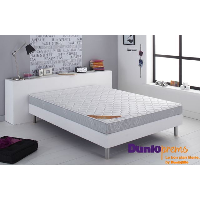dunlopillo dunloprems matelas en mousse 28kg m3 start 140x190 achat vente matelas mousse. Black Bedroom Furniture Sets. Home Design Ideas