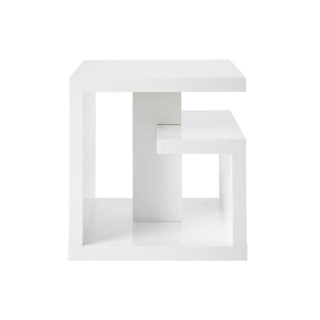 Miliboo Table d'appoint design laquée blanche Halton