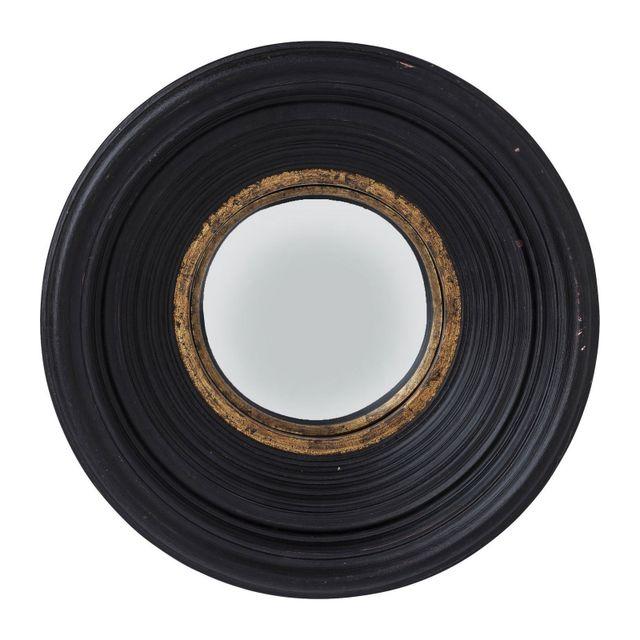 Karedesign Miroir Convex noir 48cm Kare Design