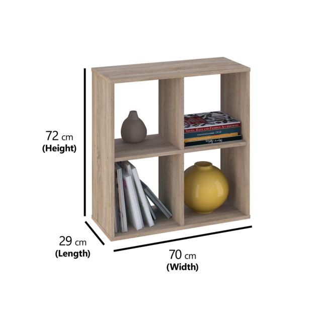Kidsaw Polini Home, étagères Smart Oxyde de 4 Sections, chêne