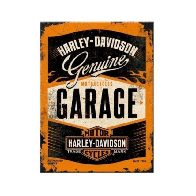 Universel Magnet 6x8cm harley davidson garage noir et orange Hd